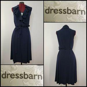Dress Barn Woman Ruffle Sleeveless Dress Size 16